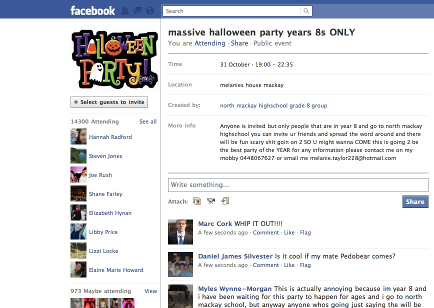massive halloween party year 8s only! | know your meme, Party invitations