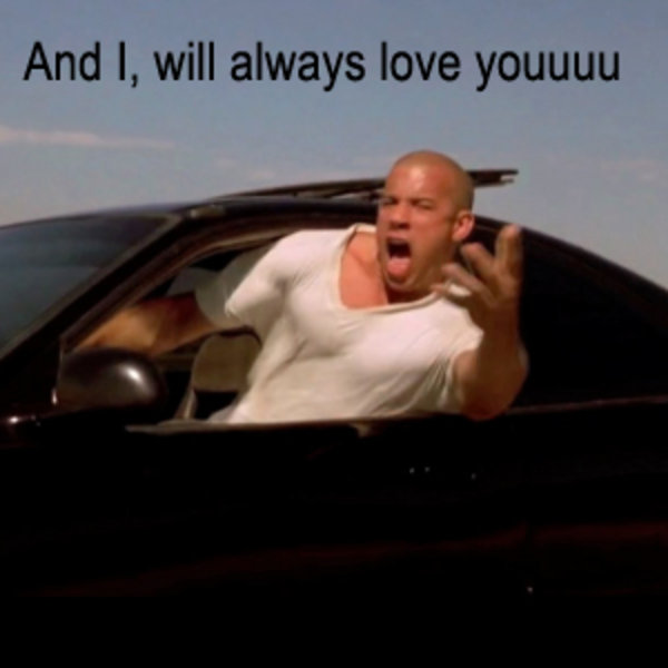 Screen shot 2010 04 06 at 11.36.12 e1270550295784 300x300 vin diesel i will always love you know your meme,I Will Always Love You Meme