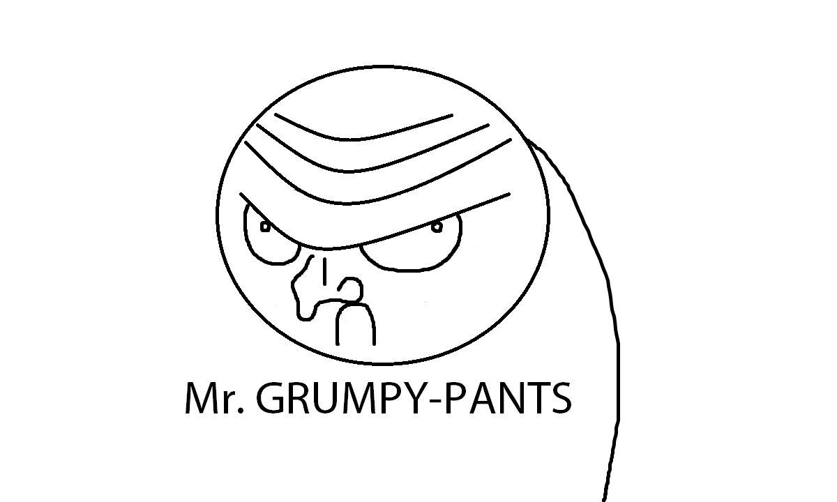 Grumpy Meme Face Mr. Grumpy-Pants | Kno...