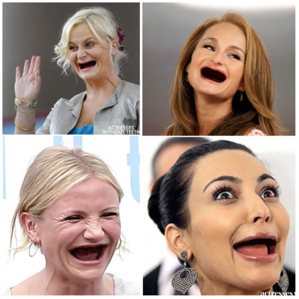 Actresses Without Teeth Know Your Meme - Celebrities without teeth