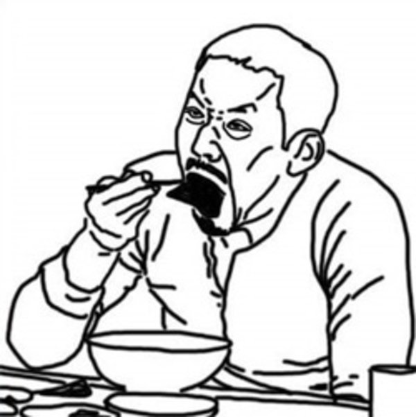 Line Art Meme : Mukbang eatcast know your meme