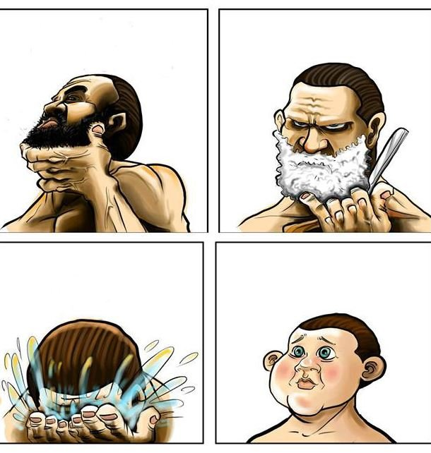 Beard Shaving Comic Parodies Know Your Meme