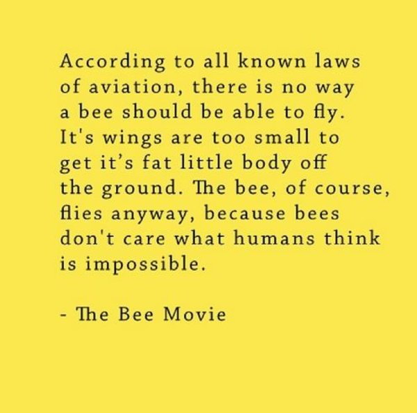 Bee Movie Script According To All Known Laws Of Aviation
