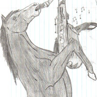 Saxophone Horse