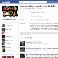 Massive Halloween Party Year 8s ONLY!