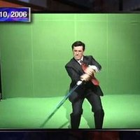 Stephen Colbert Lightsaber Green Screen Challenge