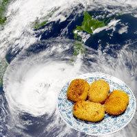 Korokke in Typhoon
