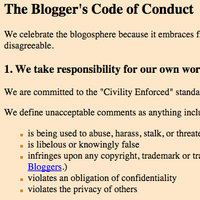 Blogger's Code of Conduct