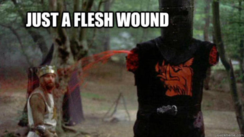 3qafhk just a flesh wound know your meme