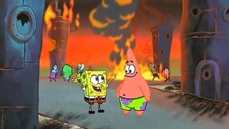 qtd2avR we did it, patrick! we saved the city! know your meme