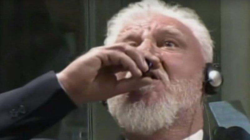Slobodan Praljak Video >> Slobodan Praljak's Courtroom Suicide | Know Your Meme