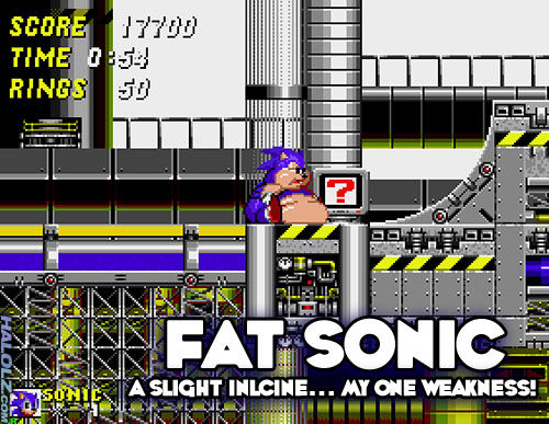 Fat Sonic The Hedgehog Game Fat Sonic The Hedgehog