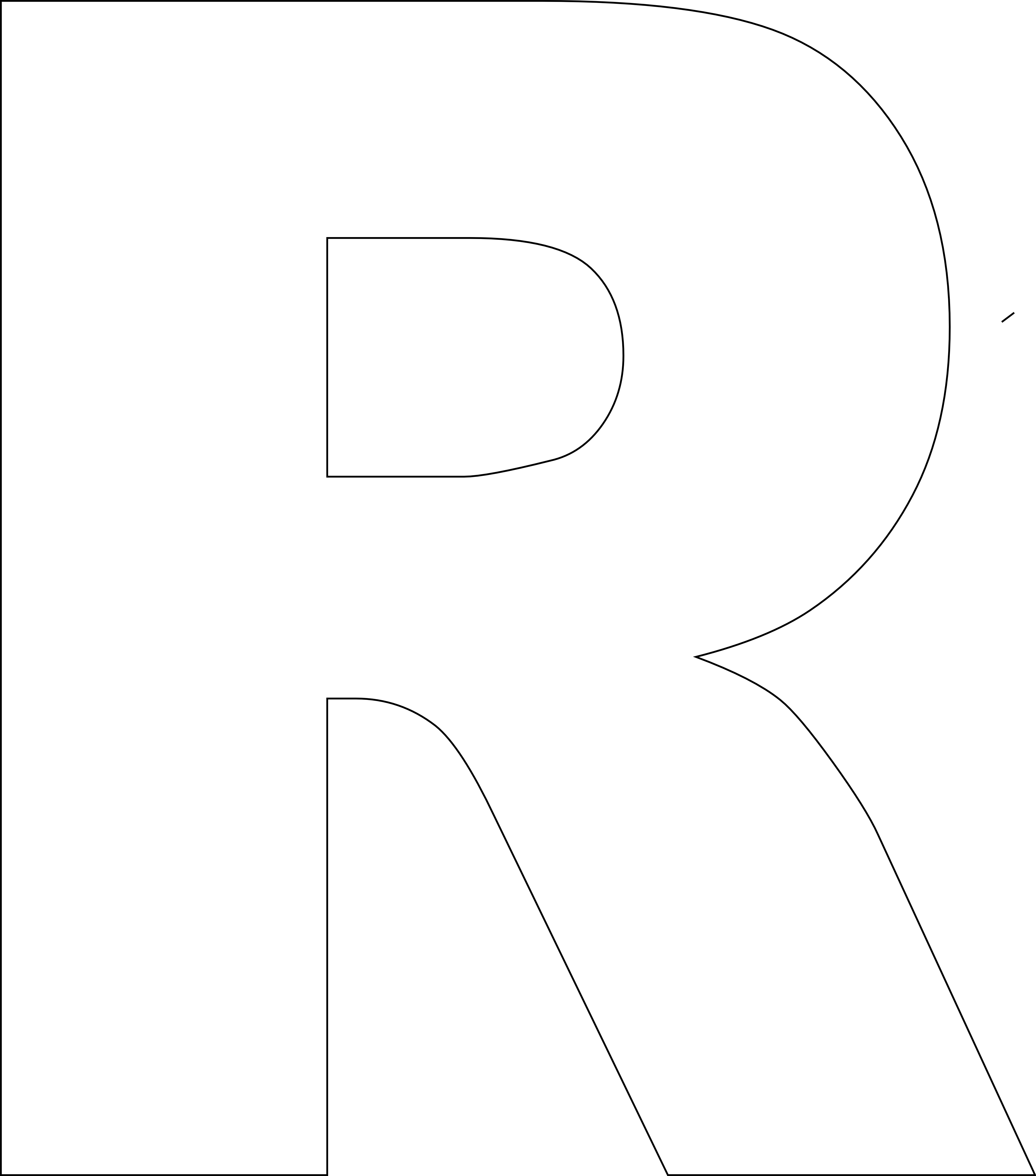 Versatile image with regard to printable letter r