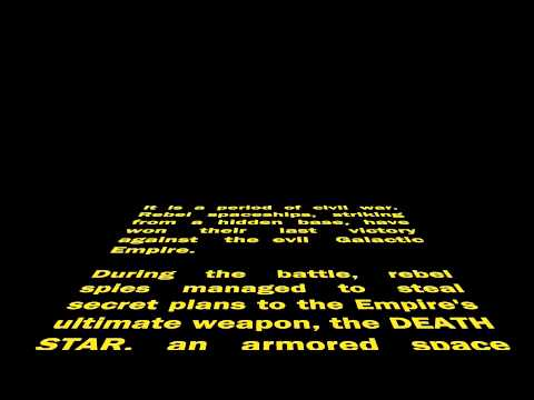 star wars opening crawl - photo #31