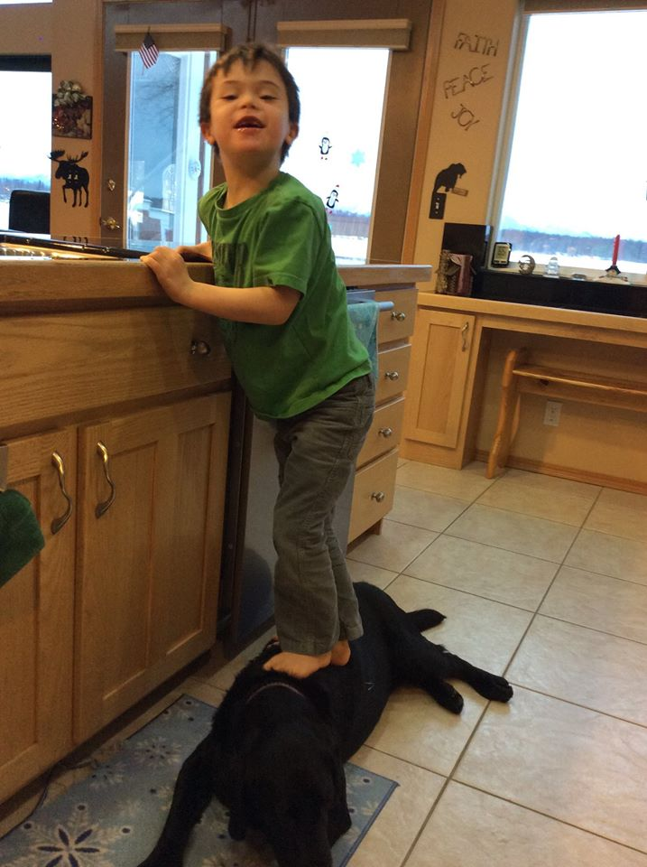 Palin Picture Of Kid On Dog
