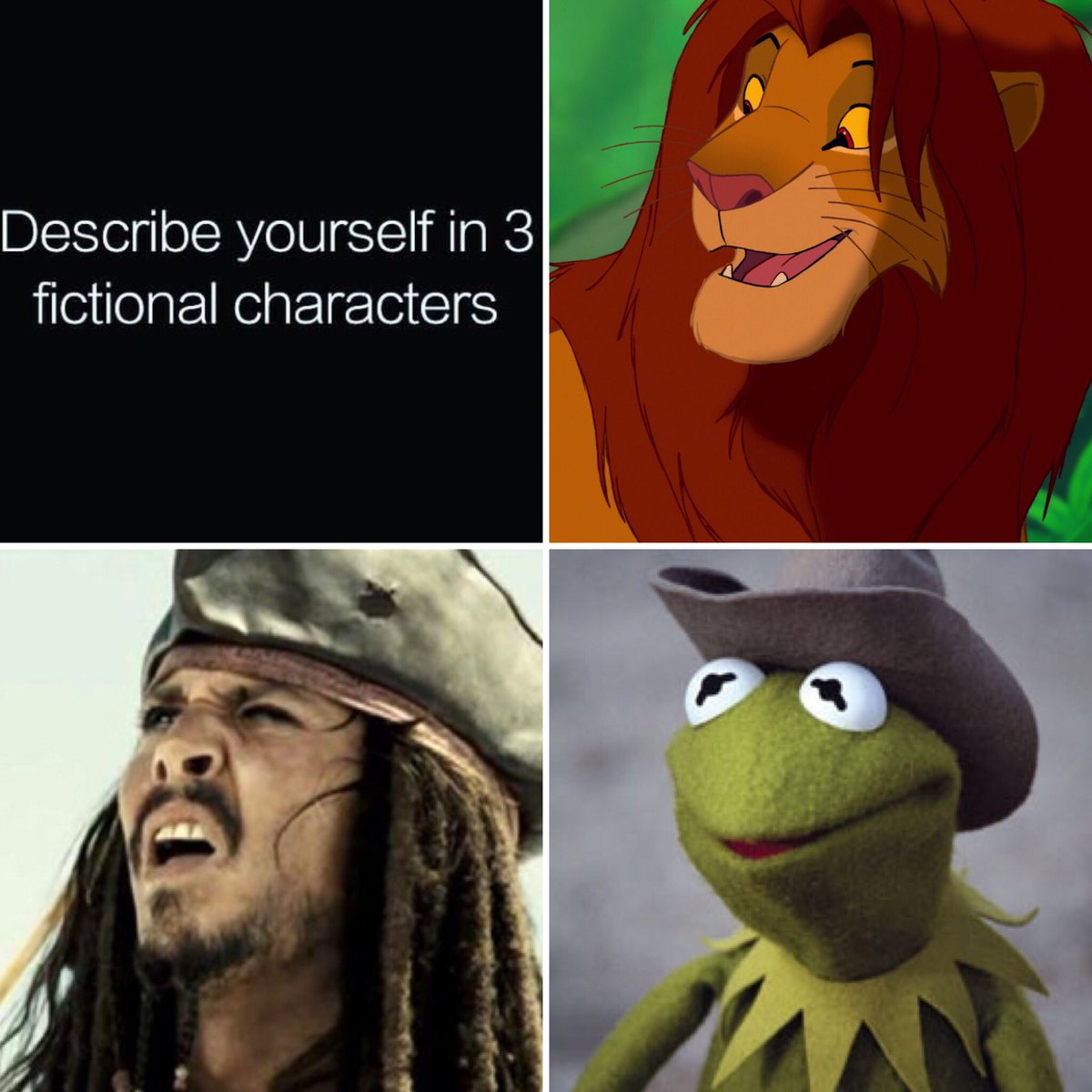 describe_yourself_in_3_characters describe yourself in 3 fictional characters know your meme