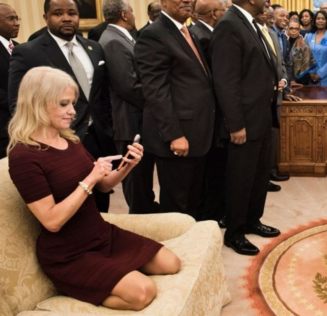 Image result for kellyanne sexualy harrased on couch