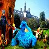 Cookie Monster gets Pepper Sprayed