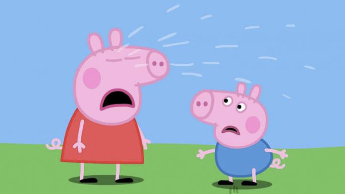 Screen capture of Peppa Pig Crying