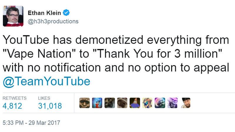 YouTube Demonetizes Content Creators