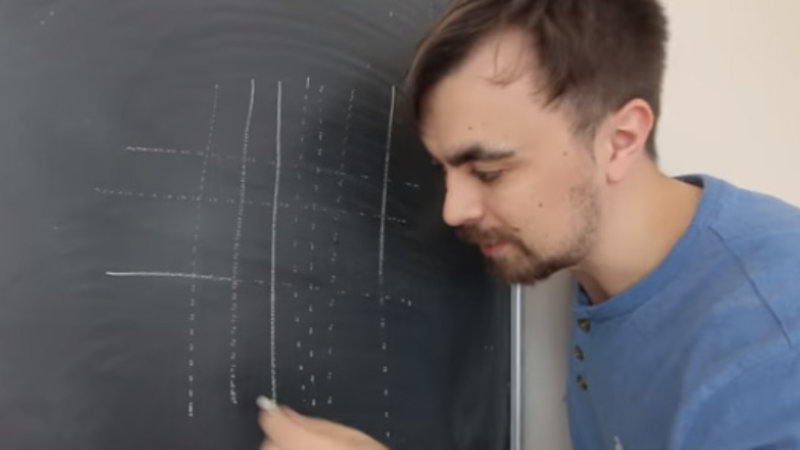 Learning to Draw Dotted Lines on a Chalkboard