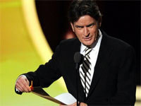 Charlie Sheen at 2011 Emmy Awards