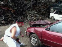 Street Fighter IRL: Car Crusher Bonus