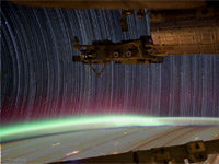 Startrails from International Space Station