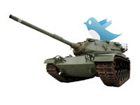 Usage of Twitter in Military Conflicts