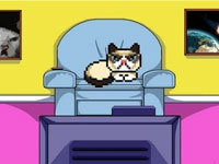 8-Bit Grumpy Cat Destroys the World
