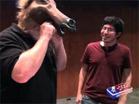 Gabe Newell Sports the Horse Head Mask
