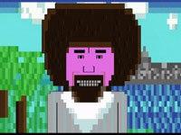 ASCII Art: Bob Ross Edition
