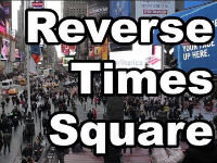 Moving Backwards in Times Square