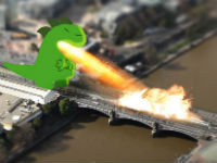 Tilt Shift Godzilla