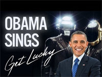 "Obama Sings ""Get Lucky"" by Daft Punk"