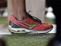 Wendy Davis' Mizuno Sneakers