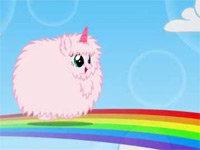 Pink Fluffy Unicorns Dancing On Rainbow