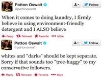 Patton Oswalt's Two-Part Troll Tweets