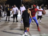 Spider-Man Plays Basketball