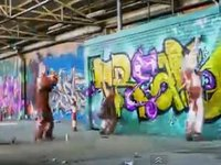 Warehouse Graffiti Time Lapse