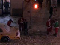 Drunken Santas Brawl in the Street