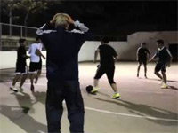 Freestyle Football Grandpa Invades the Court