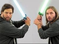 A Jedi Fight Breaks Out in the Office