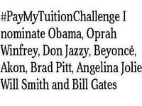 #PayMyTuitionChallenge
