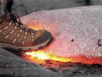 What Happens When You Step on Hot Lava