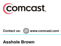 Comcast Apologizes for Billing Name Prank