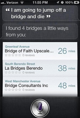 Siri Found Suicide Bridges Near You