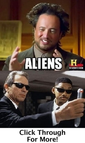 Ancient Aliens Meets the Men in Black