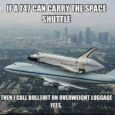 Scumbag Airlines: Space Shuttle Edition