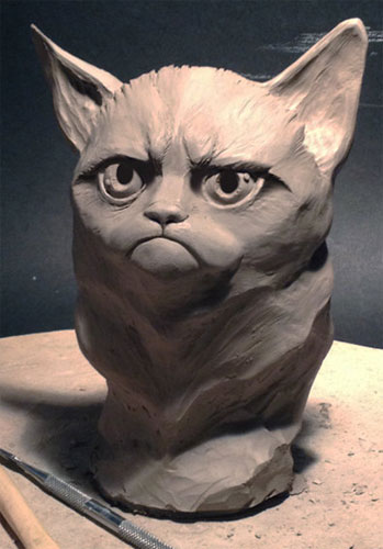 Grumpy Cat Sculpture